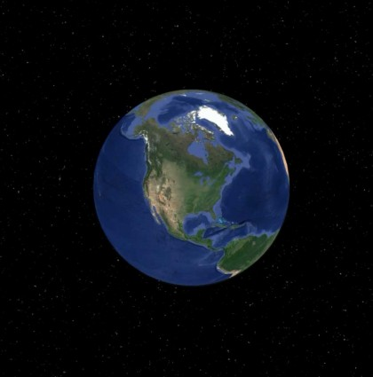 The Music Dial earth animation